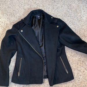 Moto pea coat